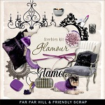 """Free scrapbook mini kit """"Glamour"""" from Far Far Hill"""