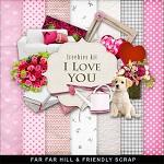 """Free scrapbook mini kit """"I Love You""""  from Far Far Hill"""