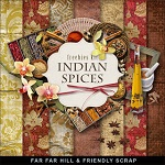 "Free scrapbook kit ""Indian Spices"" from Far Far Hill"