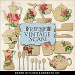 Free scrapbook vintage papers from Far Far Hill