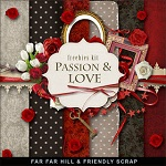 "Free scrapbook mini kit ""Passion and Love""  from Far Far Hill"