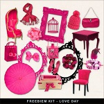 "Free scrapbook mini kit ""Romantic""  from Far Far Hill"