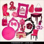 """Free scrapbook mini kit """"Romantic""""  from Far Far Hill"""