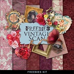 Free scrapbook romantic mini kit from Far Far Hill