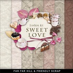 "Free scrapbook mini kit ""Sweet Love"" from Far Far Hill"