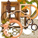 Free scrapbook orange frames from Miriams-scrap