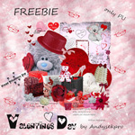 "Free scrapbook kit ""Valentines day"" from andysekpro"