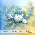 "Free scrapbook mini kit ""Funny Bath"" from Yalana Designs"