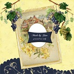 "Free scrapbook vintage QP ""GinaP"" from Miriams scraps Full Size"