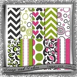 "Free scrapbook ""Girly papers"" from Scrapandtubes"