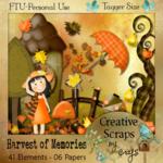 "Scrapbook Freebie ""Harvest of Memories"" by sinfullycreativescraps"