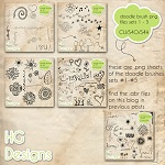 Free scrapbook doodle PNG's  from HG designs