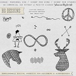 Free scrapbook hipster doodles from HG Designs