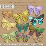Free scrapbook paper butterflies from HG designs