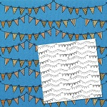 Free scrapbook paper and brushes from HG Designs