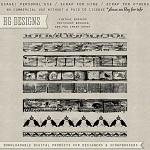 Free scrapbook vintage borders from HG designs