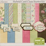 Free scrapbook Hybrid card class starter kit from Paper Garden Projects