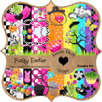 "Scrapbook Freebie Kit ""Funky Easter"" from Jamie Dell Scraps"