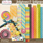 "Free scrapbook kit ""Jellybeans and Lollipops"" from Piccolina Designs- FullSize"