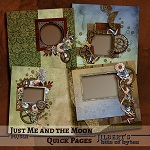"Free scrapbook QP ""Just Me and the moon"" from Jilbert's Bits of Bytes"