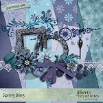 "Free scrapbook ""Spring Blink"" from Jilbert's Bits of Bytes"