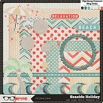 "Free scrapbook kit ""Seaside Holiday"" from Just Jaimee"