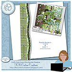 "Free scrapbook border for kit ""Earth Day Every Day"" from  KBCustomCreations"