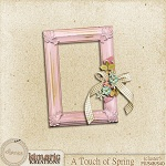 "Free scrapbook ""A Touch of Spring cluster"" from Kimeric Creations"