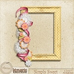 "Free scrapbook cluster frame ""Simply Sweet"" from Kimeric Kreations"