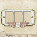 "Free scrapbook cluster frame ""Take flight"" from Kimeric Kreations"