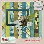 "Free scrapbook ""Father and Son blog train"" from Little Big Designs"