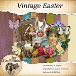 "Free scrapbook mega  kit ""Vintage Easter"" by lindsaysmenagerie"