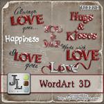 "Scrapbook Freebie Wordart ""Love"" from Jaelop Designs"