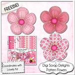 "Free Scrapbook ""Lovely"" add on from Digi Scrap Delights"