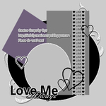 "Scrapbook Freebie Layout ""Love Me"" by sinfullycreativescraps"