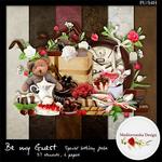 """Scrapbook Freebie mini-kit """"Be my guest"""" by Mediterranka"""