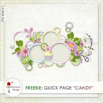 Scrapbook freebie quick page Candy