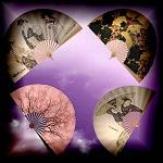 Free scrapbook Asia Fans 2 from Mgtcs Digital Art Stuff