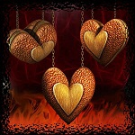 "Free scrapbook ""Hanging Hearts 1"" from Mgtcs digital art stuff"