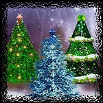 "Free scrapbook elements ""Christmas Trees"" from Mgtcs Digital Art"