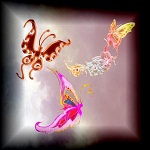 Free scrapbook Painted Butterflies High Quality from Mgtcs Digital Art Stuff