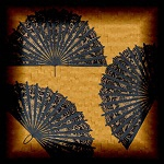 "Free scrapbook ""Elegant Black Fans"" from mgtcsdigitalartstuff Full Size"