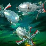 """Free scrapbook """"Zeppelins"""" from mgtcsdigitalartstuff High Q"""