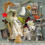 Free scrapbook vintage mini kit 9 from Miriams scraps Full Size