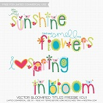 Free scrapbook spring wordart from Miss Tiina