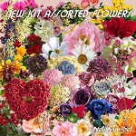 "Free scrapbook elements ""Assorted Flowers"" from Lugar Encantado da Neli – FS"