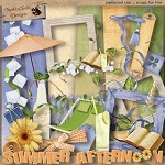 "Free scrapbook mini kit ""Summer Afternoon"" from Nutkintailz"