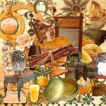 Free scrapbook orange kit elements 1 from Miriams-scrap