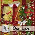 "Scrapbook Freebie ""Our Love"" from Jaelop Designs"