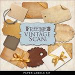 Scrapbook Freebie Vintage Paper Labels by farfarhill